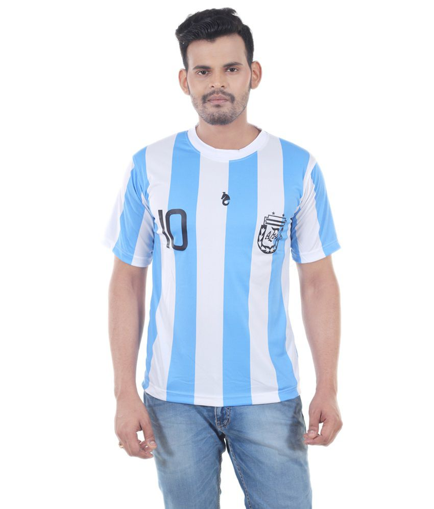 Bloomun White Argentina Football Fan Jersey