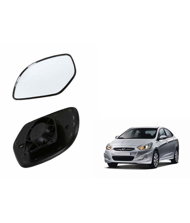 Speedwav Car Rear View Side Mirror Glass RIGHT Hyundai Verna Fluidic