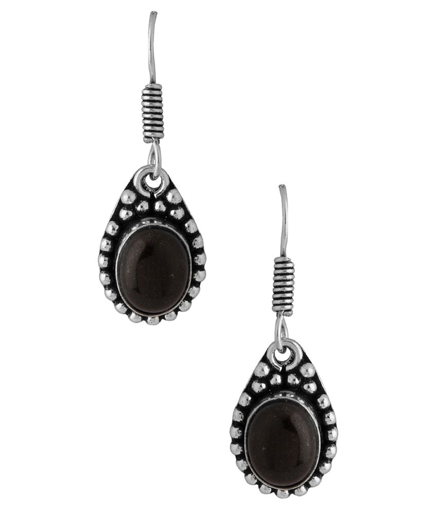 Voylla Silver Alloy Hanging Earrings