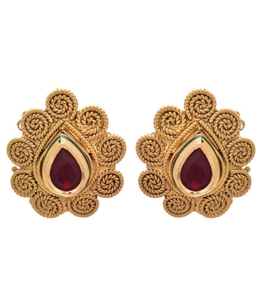 Jfl - Jewellery For Less Golden Copper Stud Earrings