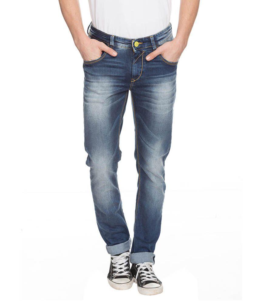 Spykar Blue Skinny Fit Jeans No