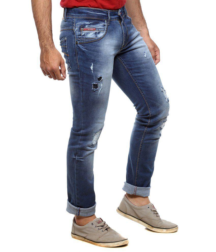 bf147ec0 Lee Cooper Blue Slim Fit Jeans - Buy Lee Cooper Blue Slim Fit Jeans Online  at Best Prices in India on Snapdeal