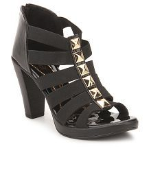 Catwalk Black Heeled Sandals