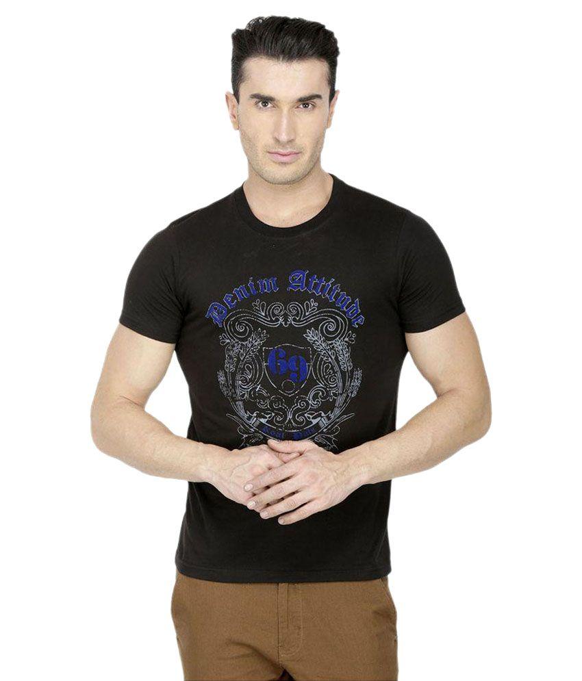 San Vertino Black Round T Shirts Pack of 3