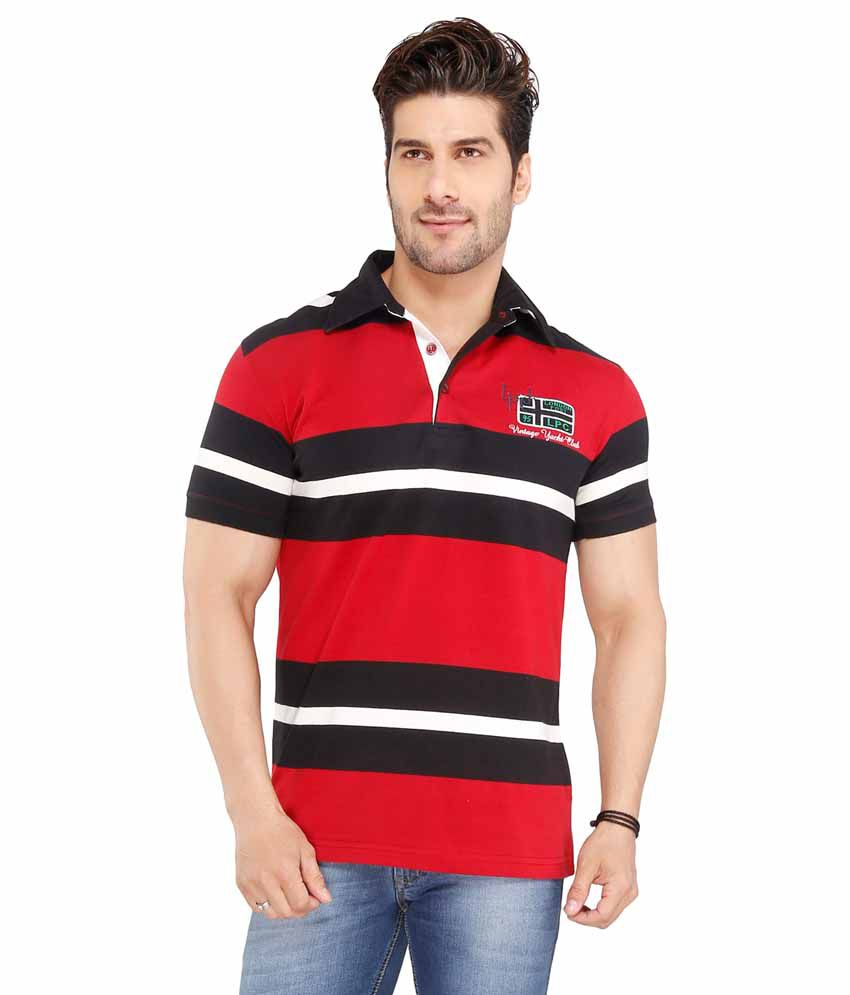 Jazzup Red Round Neck T Shirt