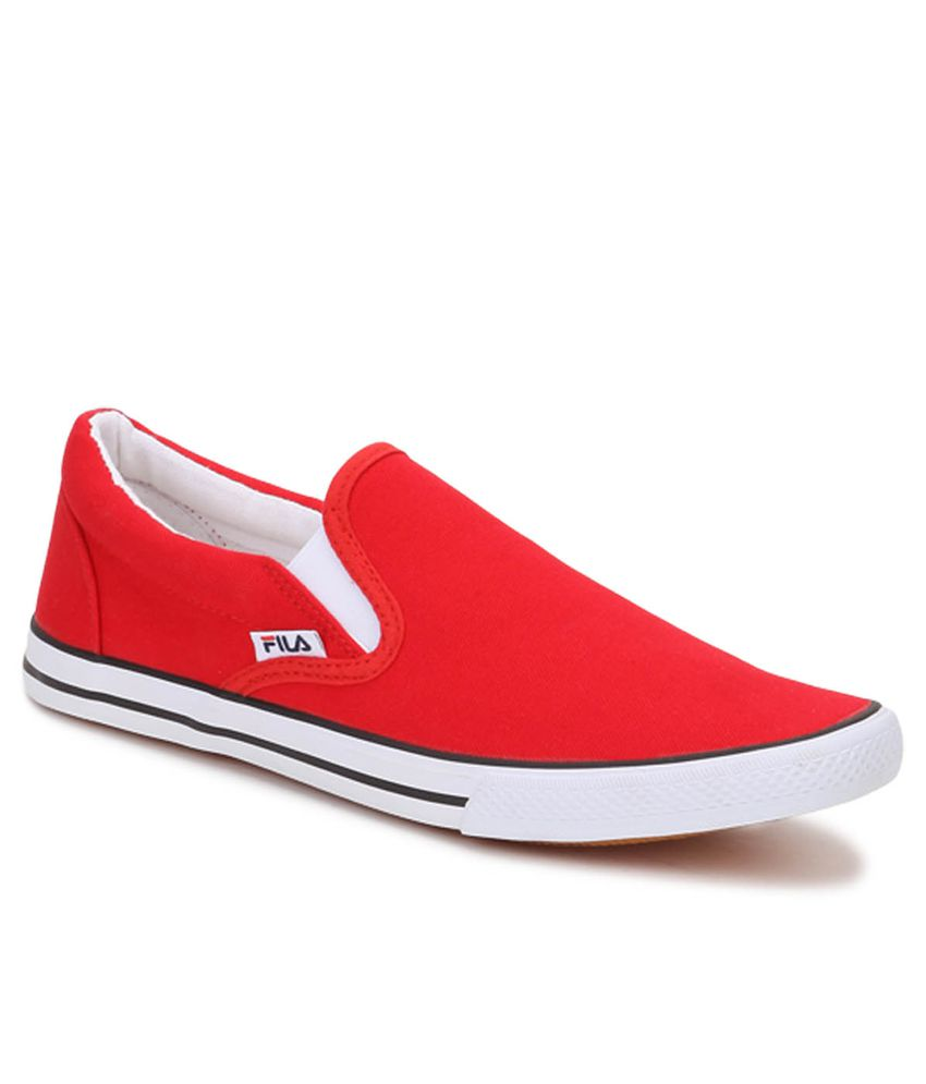 Flat 50% Off on Men's Footwear | Fila Raffal Red Casual Shoes By Snapdeal @ Rs.931