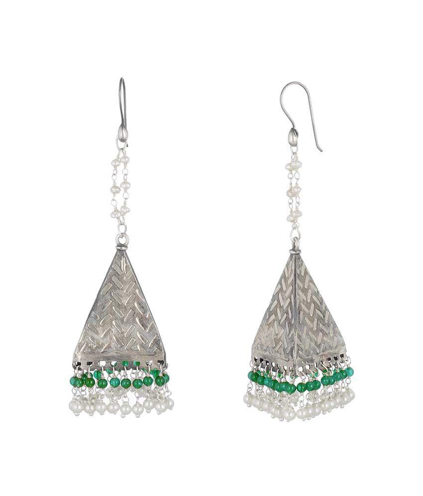 Jewels Of Jaipur 92.5 Silver Jhumki