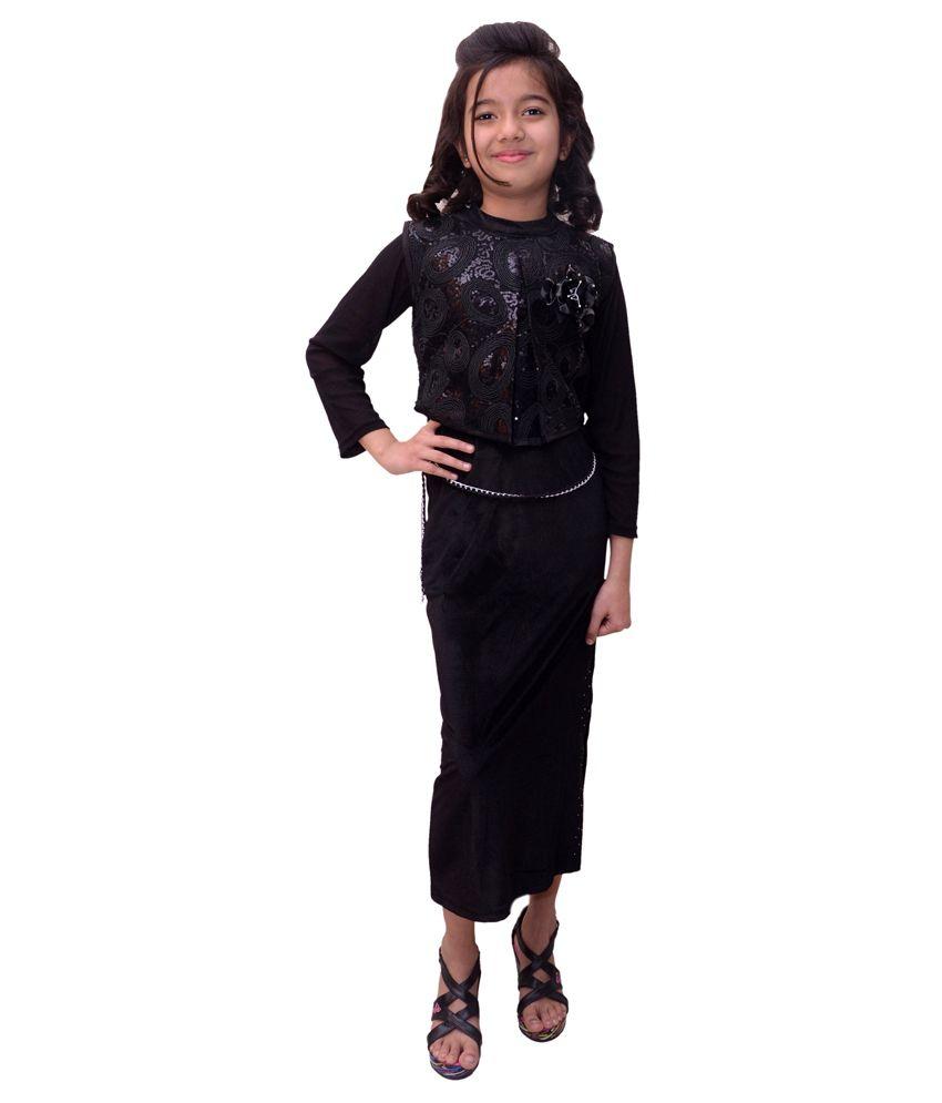 Titrit Black Velvet Gowns - Buy Titrit Black Velvet Gowns Online at ...