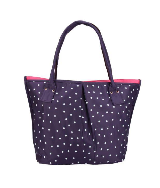 Tuelip Purple Synthetic Tote Bag
