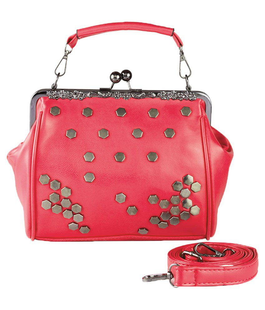 Lalana Red P.U. Shoulder Bag