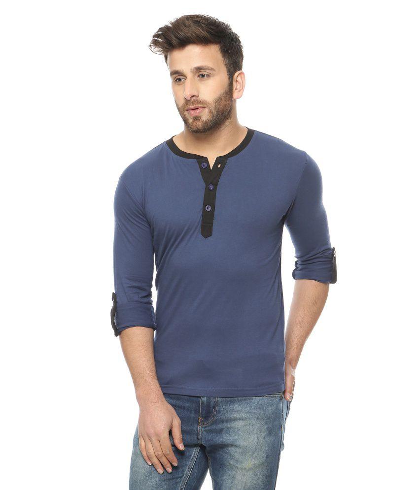 Gritstones Blue Henley T-shirt