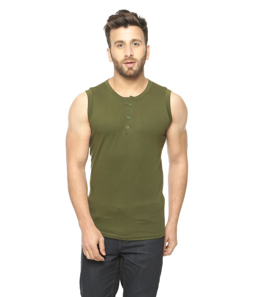 Gritstones Green Henley T-shirt