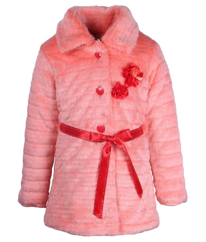 Cutecumber Orange Coat For Girls