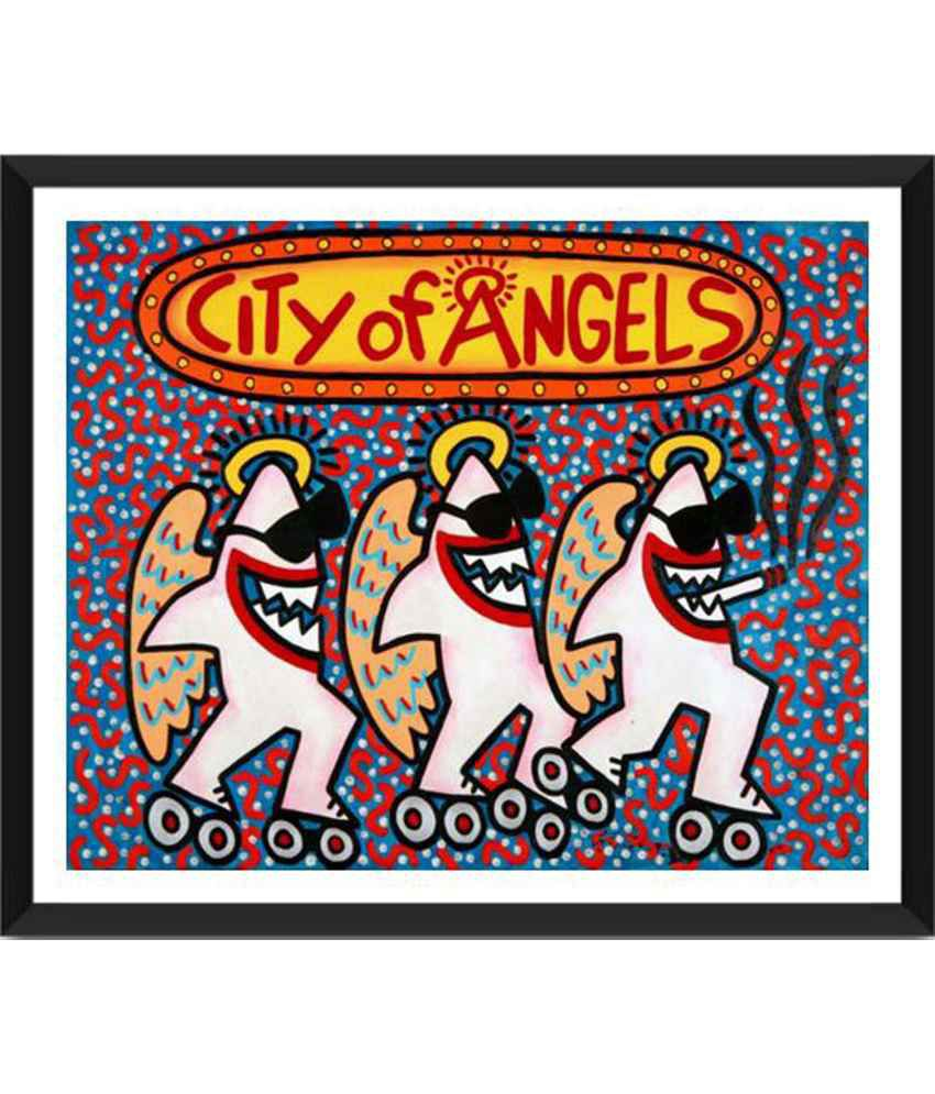 Tallenge City Of Angels Painting With Acrylic Frame
