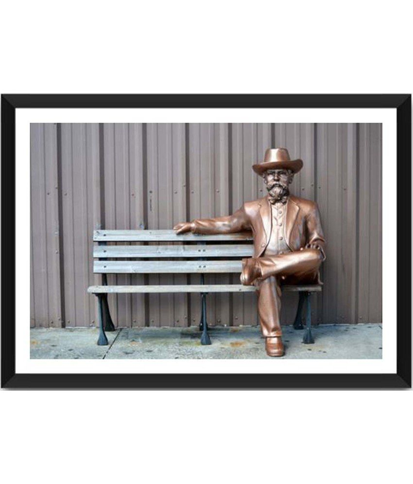 Tallenge Jack Daniels on a Bench Painting With Acrylic Frame