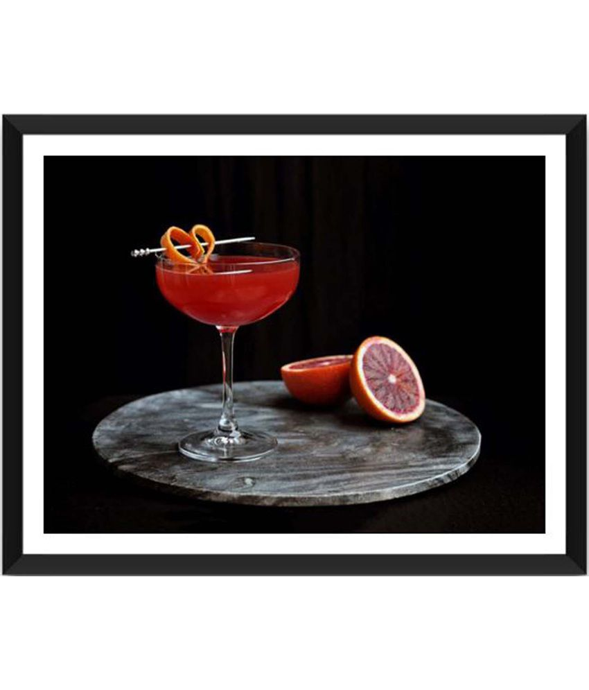 Tallenge Tangy Cocktail Painting With Acrylic Frame