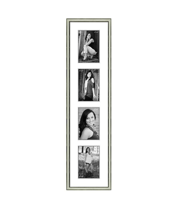 Elegant Arts & Frames 4 Pocket vertical Diamond Dust Metal Photo ...