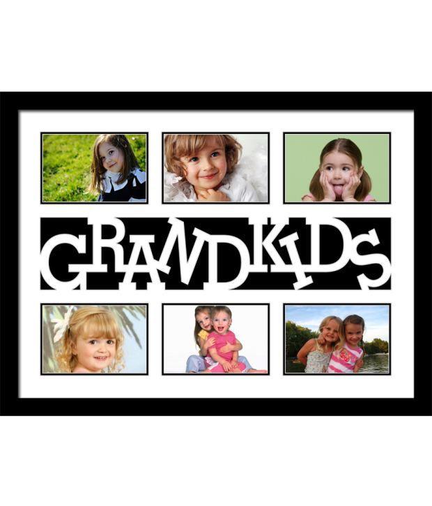 Elegant Arts & Frames Black Grandkids Collage Photo Frame: Buy ...