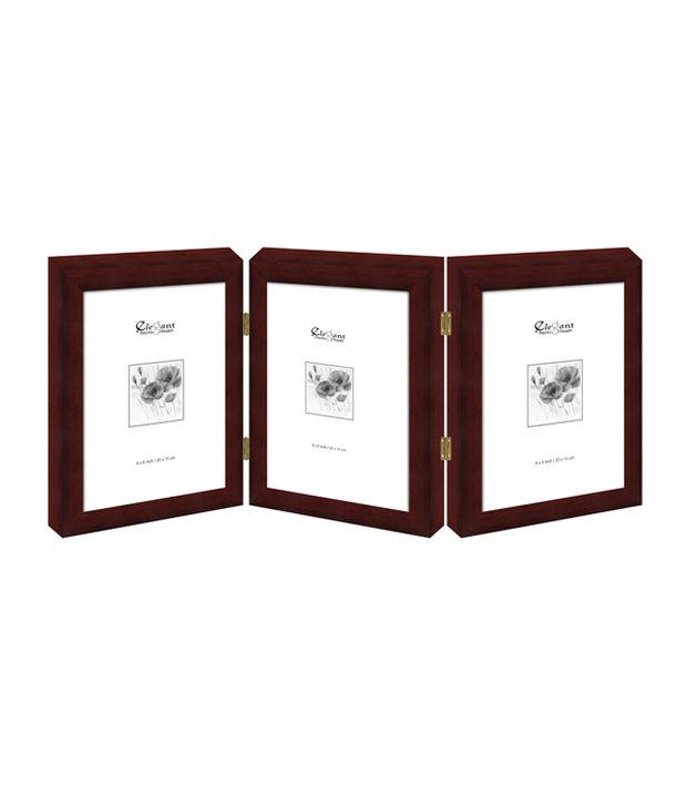 Elegant Arts & Frames Brown 3 Folding Photo Frame