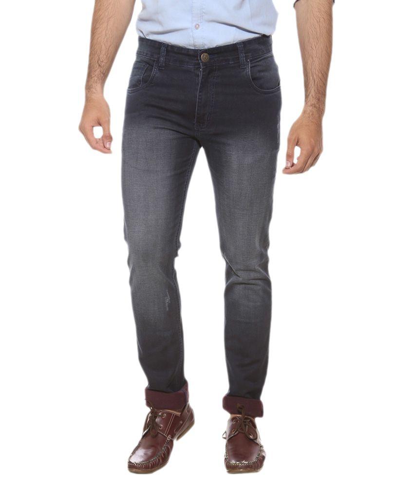 Semicollon Black Slim Fit Jeans Single
