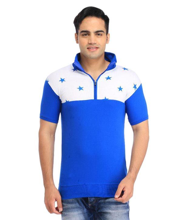 Tees Collection Blue V-Neck T Shirts