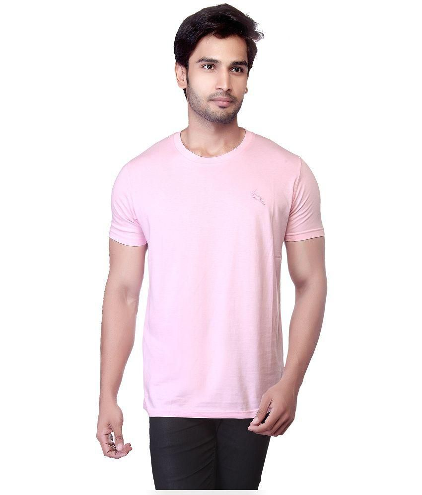 LUCfashion Pink Round T Shirts Single