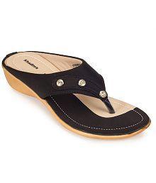 Khadim's Black Wedges Heels