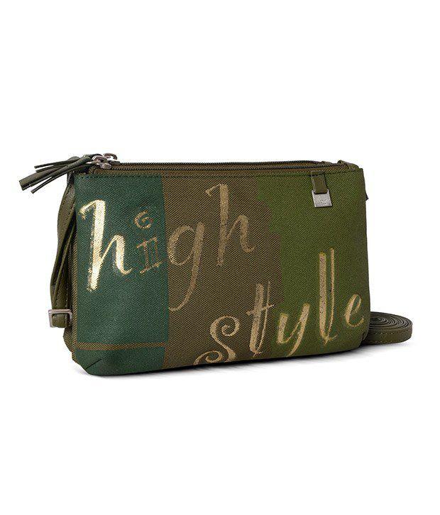Baggit Green P.U. Sling Bag