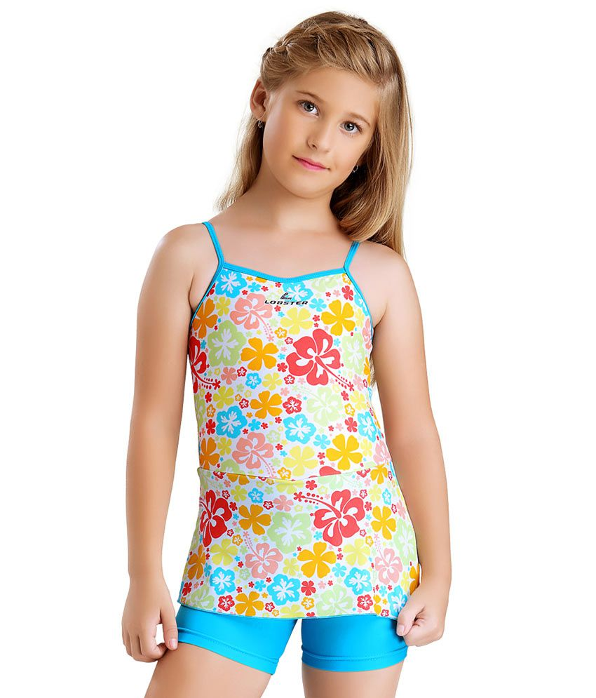 cdcc4dfab Buy Lobster Multicolour Polyamide and Spandex Swimwear for Girls  Swimming  Costume Online at Best Prices in India - Snapdeal