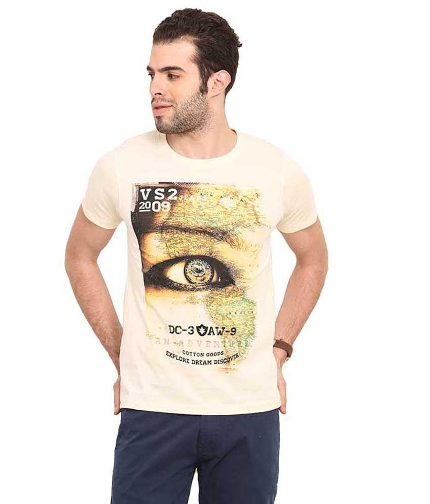 Mode Vetements White Round T Shirts