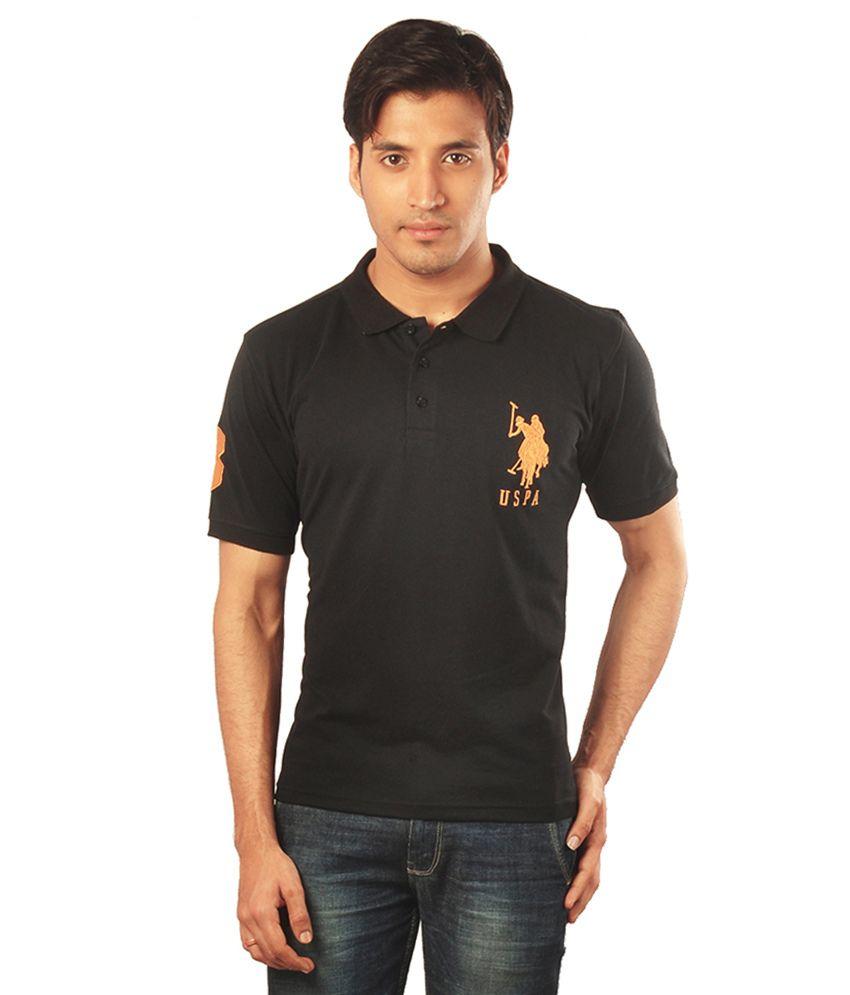 USPA Black Polo T Shirts - Buy USPA Black Polo T Shirts Online at ...