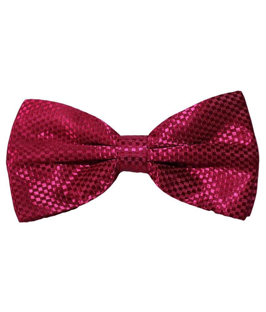 Uspa.polo Maroon Silk Casual Thin Tie for Men