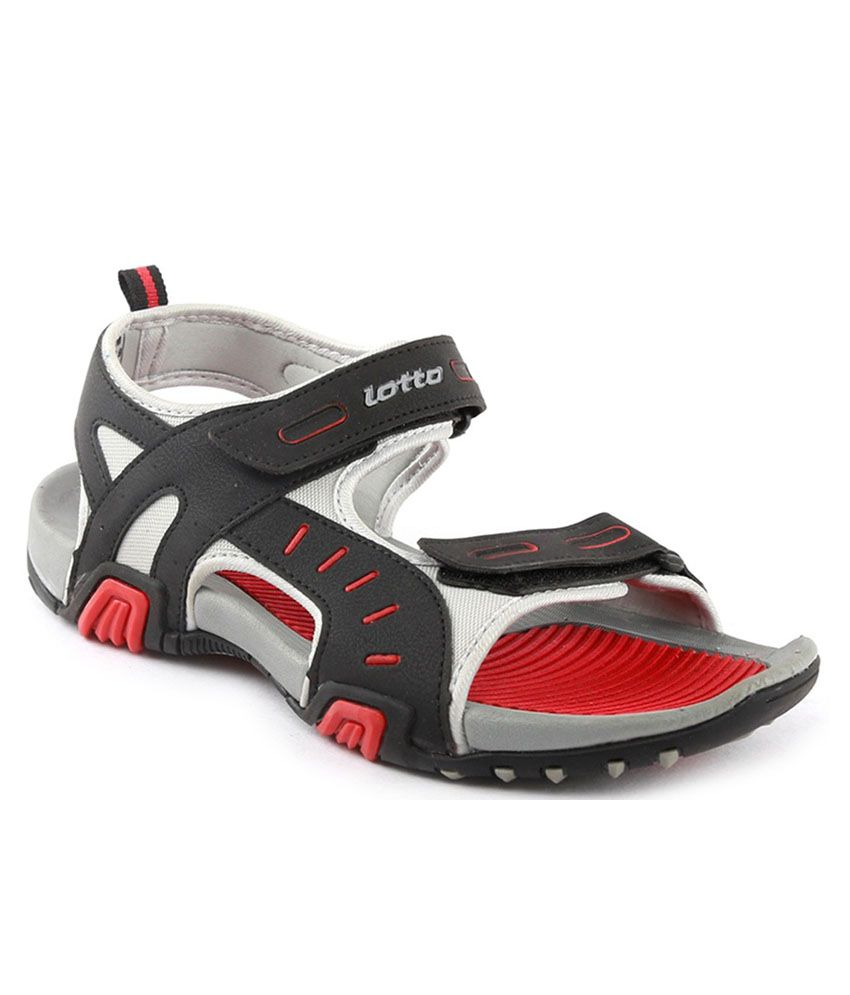 7a9fce8d8daf4 Lotto Rockstar Grey Red Men Floater Sandals - Buy Lotto Rockstar ...
