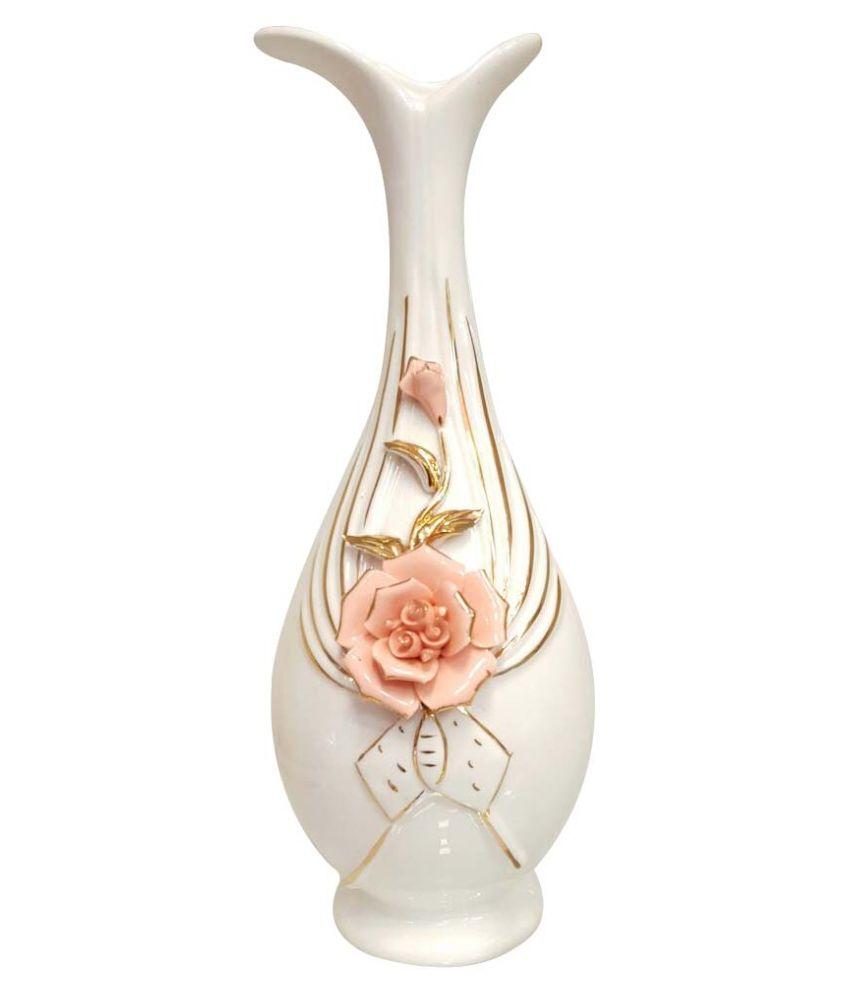 243 & B D Crockery White Porcelain Flower Vase: Buy B D Crockery ...