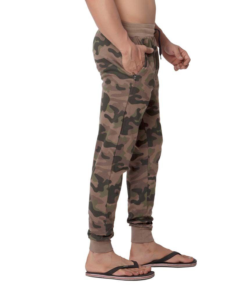 Clifton Fitness Men's Army Track Pant Slimfit -Saffari