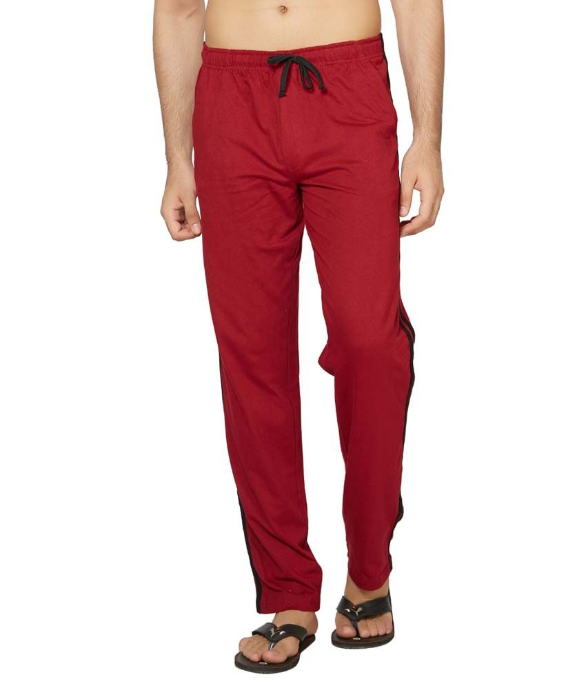 Clifton Fitness Men's Coloured Track Pants -Maroon
