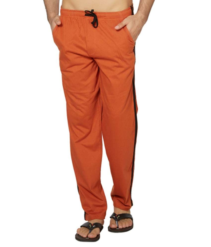 Clifton Fitness Men's Coloured Track Pants -Rust