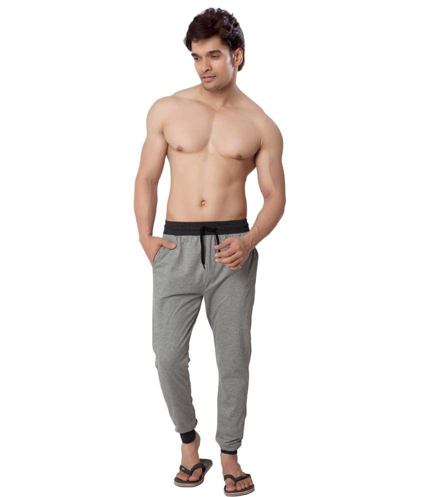 Clifton Fitness Men's Track Pant Slimfit -Grey Melange