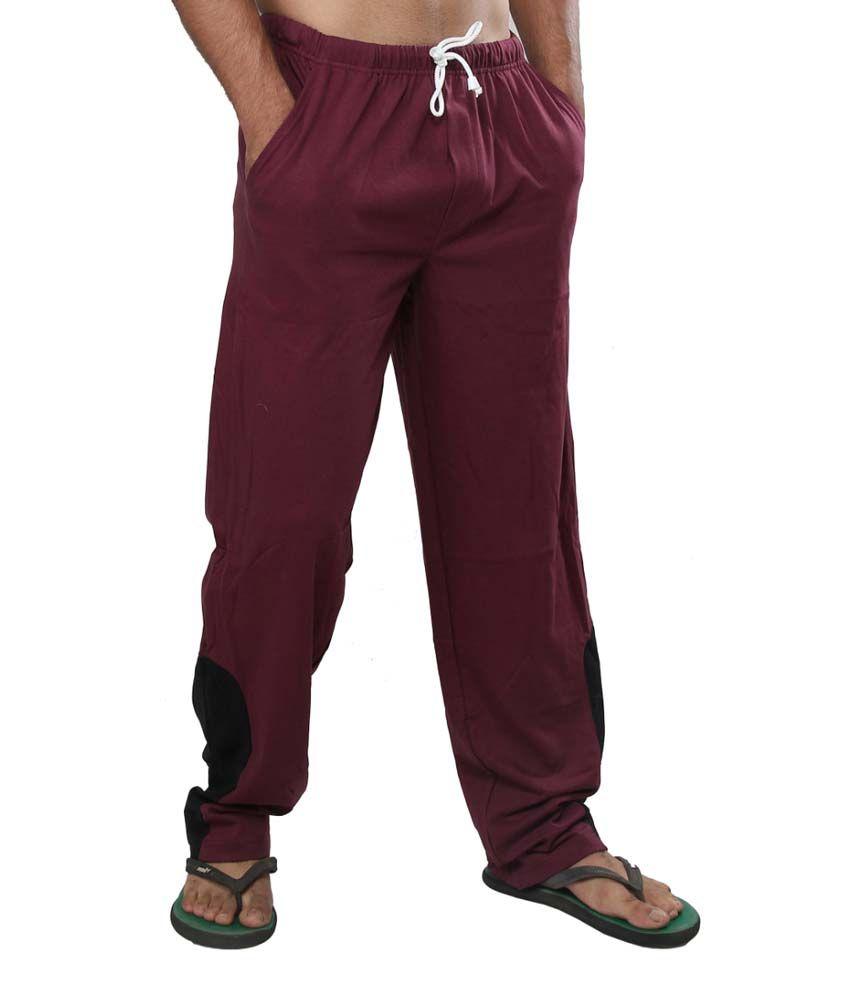 Clifton Fitness Men's Track Pants -Dark Red
