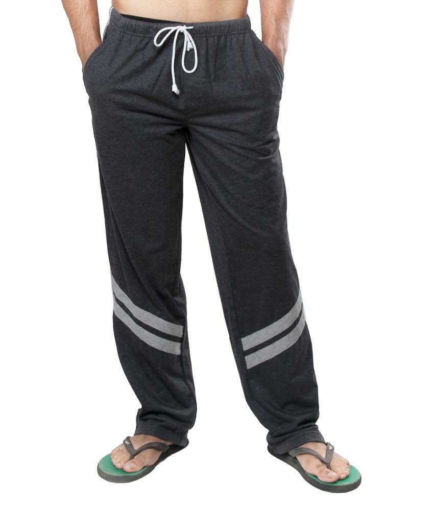Clifton Fitness Men's Track Pants -Charcoal Melange