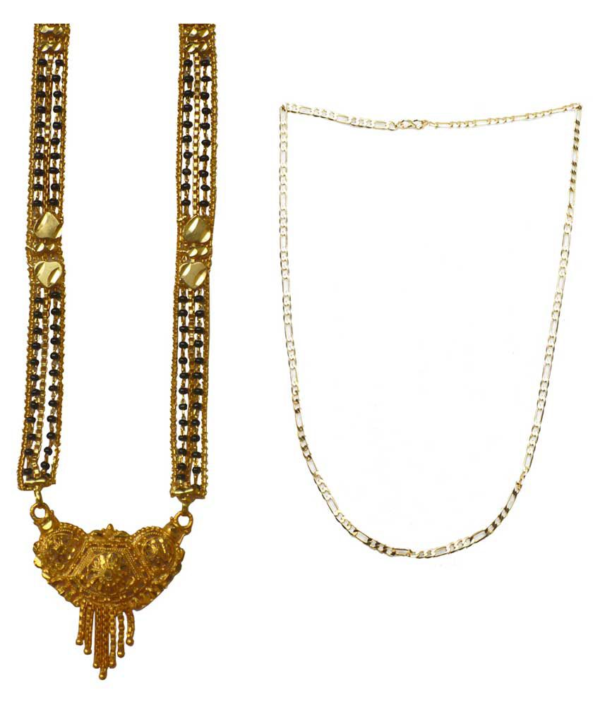Sondagar Arts Golden Brass Mangalsutra And Chain