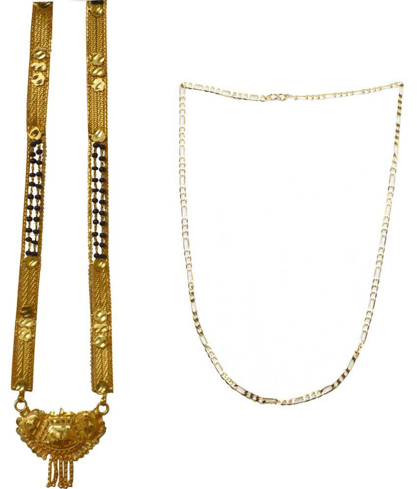 Sondagar Arts Golden Brass Mangalsutra And Chain
