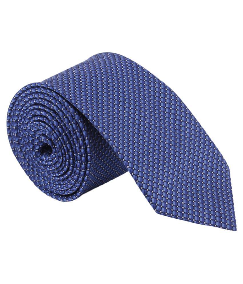 Alvaro Castagnino Blue Narrow Tie For Men