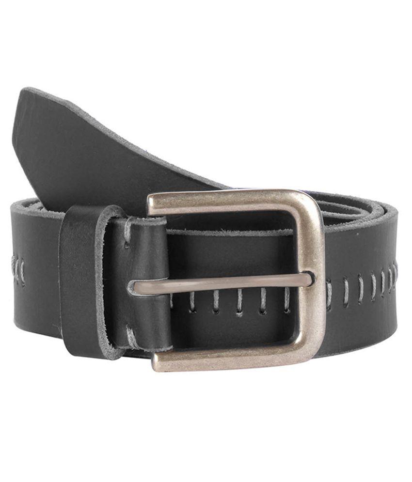 Kara Black Leather Formal Belt for Men