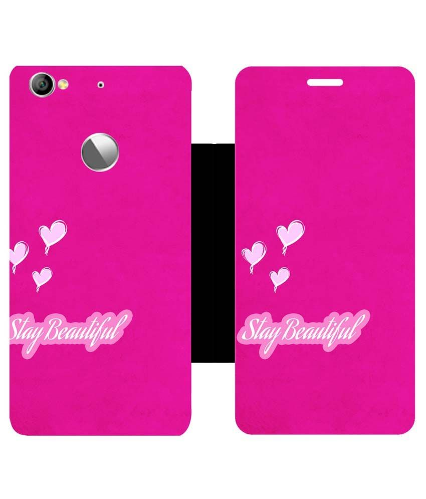 new style b522e bcea4 Skintice Flip Cover for LeTV Le 1S - Pink - Flip Covers Online at ...
