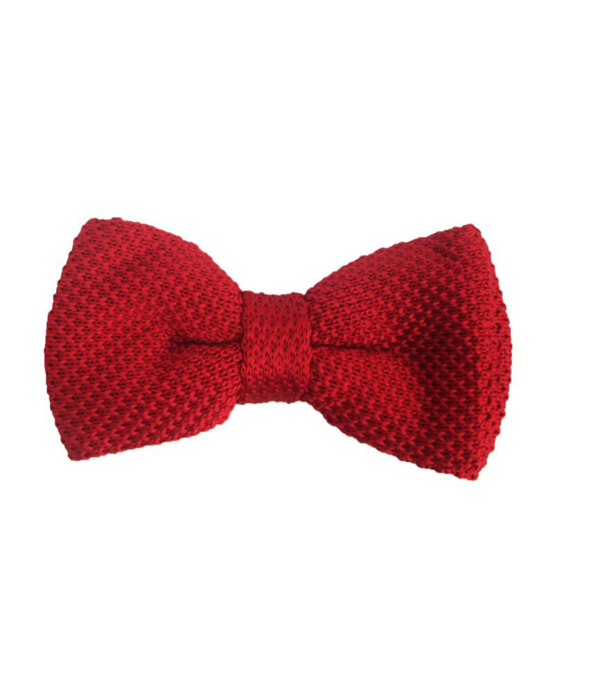 Winsome Deal Red Micro Fiber Knitted Tie for Men