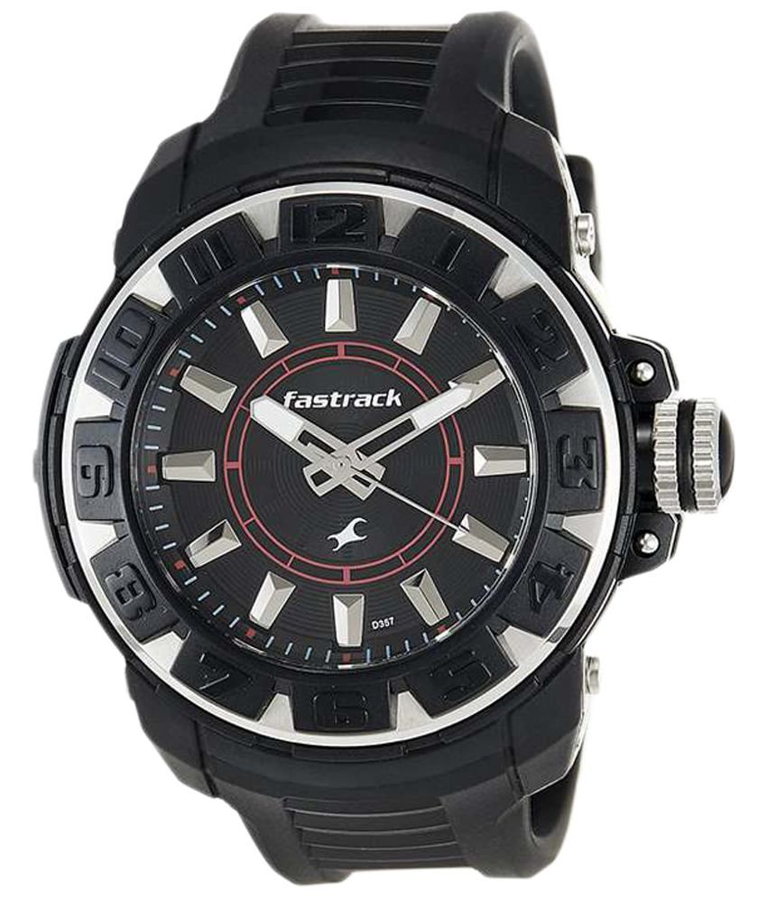 Fastrack Black Analogue Watch