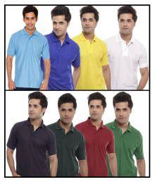 Kristof Multi Polo T-shirt Combo Of 8