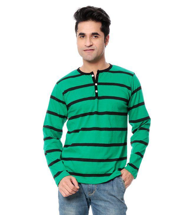 Leana Turquoise Cotton T-Shirt
