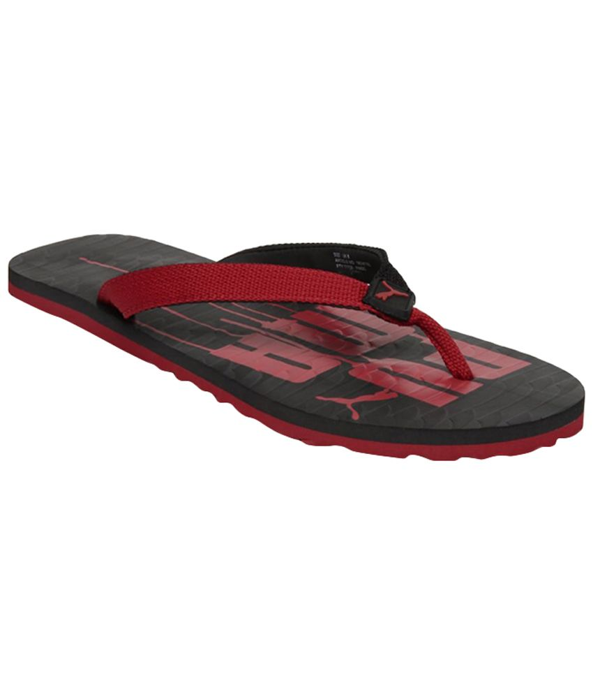 Puma Miami Iv Ind Red & Black Slippers  available at snapdeal for Rs.222